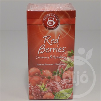 Teekanne red berries vörösáfonya-málna tea 20x2,25g 45 g